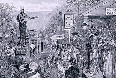 General Jackson, President-elect, On His Way To Washington, Illustration From A Presidential Art Print