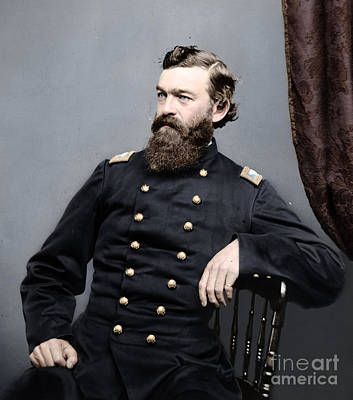 American Civil War Photograph - General James S Robinson by Celestial Images