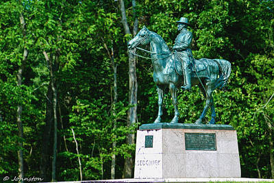 Photograph - General John Sedgewick Gettysburg Battleground by Bob and Nadine Johnston
