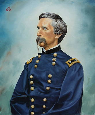 Art Print featuring the painting General Joshua Chamberlain by Glenn Beasley