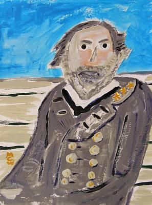 General Lee Drawing - General Lee by Mary Carol Williams
