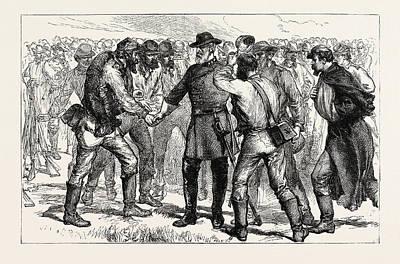 General Lee Drawing - General Lees Farewell To His Soldiers, American Civil War by American School