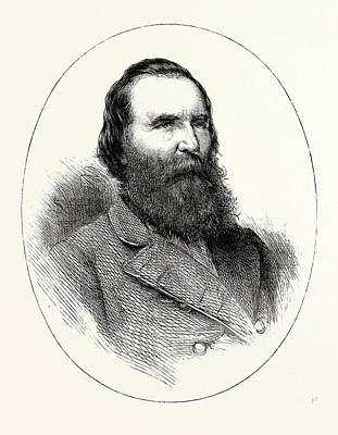 General Lee Drawing - General Longstreet by English School