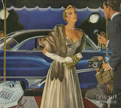 1950 Movies Drawing - General Motors 1950s Usa  Cars by The Advertising Archives