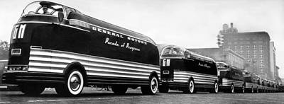 Progress Photograph - General Motors' Futurliners by Underwood Archives