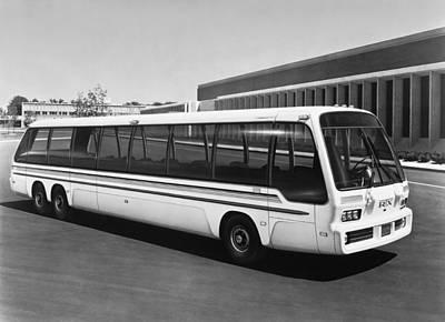 Bus Photograph - General Motors' Rtx Bus by Underwood Archives