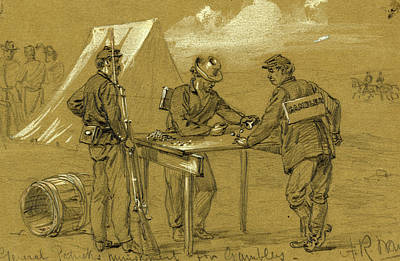 Chinese American Drawing - General Patricks Punishment For Gamblers by Quint Lox