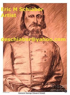 General Pickett Confederate  Art Print by Eric  Schiabor