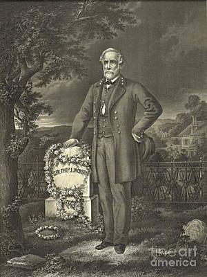 Stonewall Jackson Photograph - General Robert E. Lee 1869 by Padre Art