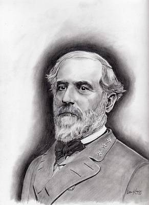 Robert E Lee Drawing - General Robert E. Lee by Lou Knapp