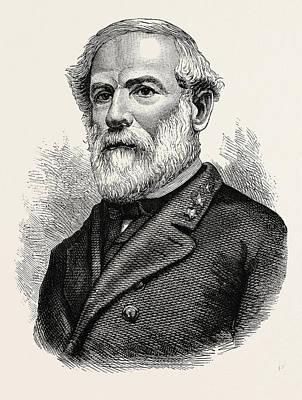 General Lee Drawing - General Robert Edmund Lee by American School