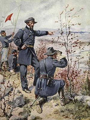 U.s.a Drawing - General Sherman At Kenesaw Mountain by Henry Alexander Ogden