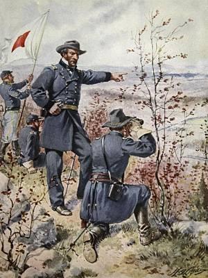 General Sherman At Kenesaw Mountain Art Print by Henry Alexander Ogden