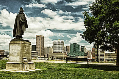 Photograph - General Smith Overlooks Baltimore Harbor by Bill Swartwout