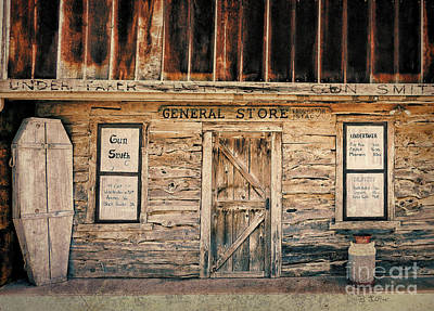 Rusty Tin Roof Photograph - General Store by Betty LaRue