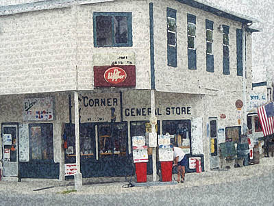 Fire Hydrant Mixed Media - General Store by Dennis Buckman
