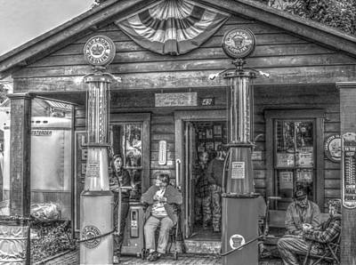 Photograph - General Store In Black And White by Cathy Jourdan