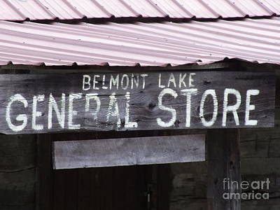 Photograph - General Store Sign by Melissa Lightner