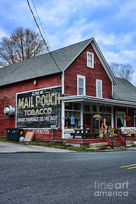 Mail Pouch Barn Photograph - General Store With Tobacco Ad by Paul Ward