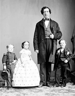 Photograph - General Tom Thumb Wedding Party, 1863 by Science Source