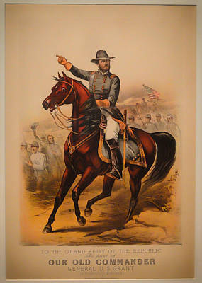 General Grant Drawing - General Ulysses S Grant by Mountain Dreams