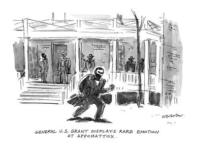 Government Drawing - General U.s. Grant Displays Rare Emotion by James Stevenson