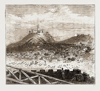 Ghana Drawing - General View Of Elmina Recently Bombarded By The British by Litz Collection