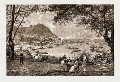 General View Of Victoria, Hong Kong Art Print by Litz Collection
