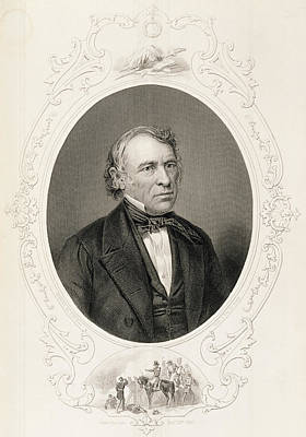 General Zachary Taylor, From The History Of The United States, Vol. II, By Charles Mackay, Engraved Art Print