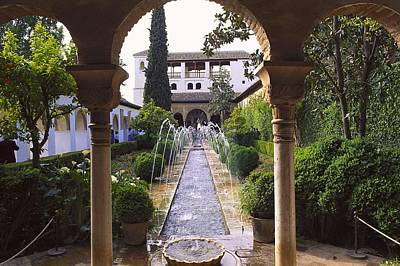 Jannat Photograph - Generalife Alhambra. Spain. Andalusia by Everett