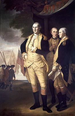 Generals At Yorktown, 1781 Art Print by Granger