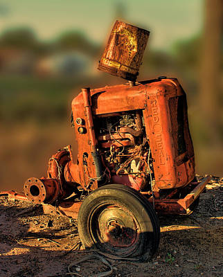 Junk Photograph - Generator At Sunset by Sylvia Thornton