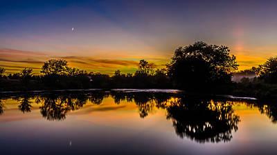 Genesee Mill Pond Sunset Art Print by Randy Scherkenbach