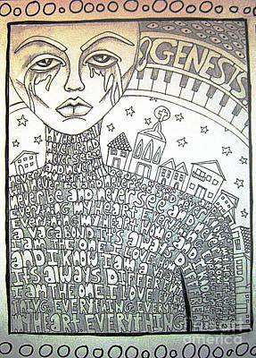 Grime Drawing - Genesis by Alyssa Lyne