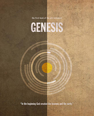 God Mixed Media - Genesis Books Of The Bible Series Old Testament Minimal Poster Art Number 1 by Design Turnpike