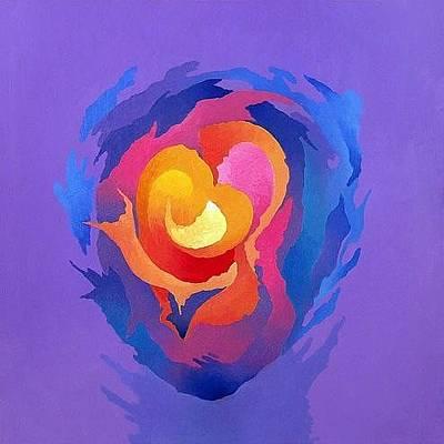 Abstract Simbolism Painting - Genesis by Eldon Luarasi