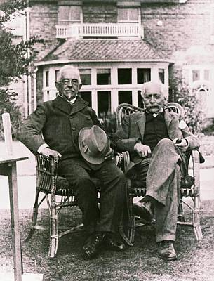 Physiology Photograph - Geneticists Johannsen And Bateson by American Philosophical Society