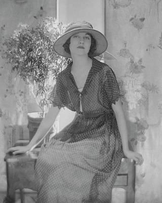 Genevieve Tobin In A Swiss Style Dress Art Print by Baron Adolphe De Meyer