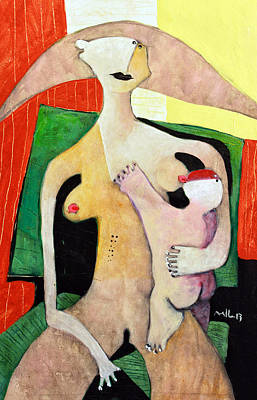 Woman And Baby Painting - Genitrix No. 3 by Mark M  Mellon
