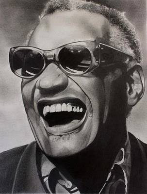 Rhythm And Blues Drawing - Genius Of Soul by Brian Broadway
