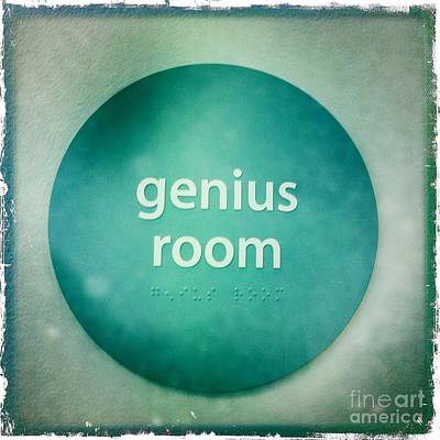 Art Print featuring the photograph Genius Room by Nina Prommer