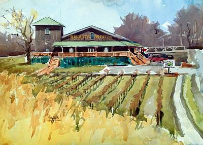 Mount Vernon Painting - Genkota Winery by Spencer Meagher