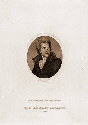 Jackson 5 Drawing - Genl. Andrew Jackson, 1828. Protector & Defender Of Beauty by Litz Collection