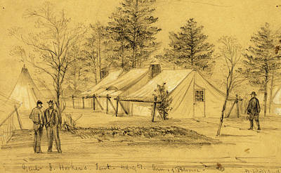 3.14 Drawing - Genl. J. Hookers. Tent Hdqts. Army Of Potomac by Quint Lox