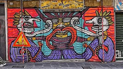 Photograph - Genoa Graffiti 1 by Herb Paynter