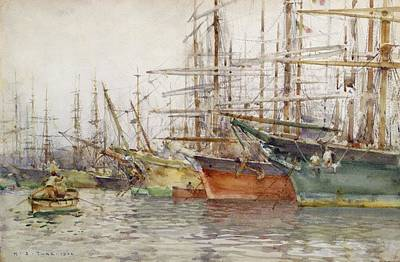 Genoa Harbour, 1904 Art Print by Henry Scott Tuke