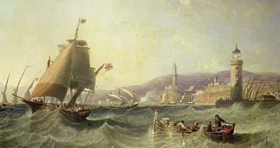 Genoa Painting - Genoa by John Wilson Carmichael