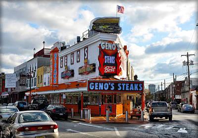Geno's Steaks - The Best Art Print by Bill Cannon