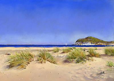 Genoveses Beach Art Print by Margaret Merry