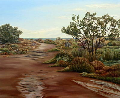 Desert Path Painting - Genoveses' Walk by Angeles M Pomata